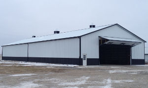 Black And White Pole Barn Garage