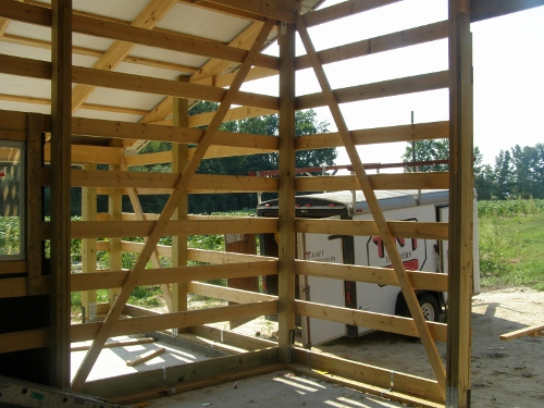 Corner Bracing Pole Barn Walls