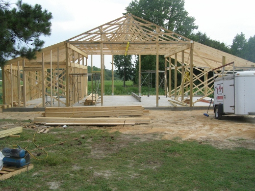 Pole Barn Roof Framing