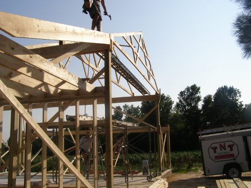 Placing Rafters On Eave Shed