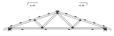 20' span gable truss drawing