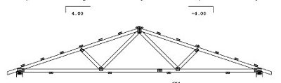 24' span gable truss drawing