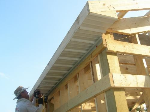 Ventilation For Pole Building : Framing roof overhang soffit about