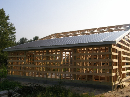 Steel roofing on pole barn for Pole barn roof pitch