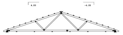 36' span gable truss drawing