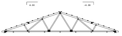 40' span gable truss drawing