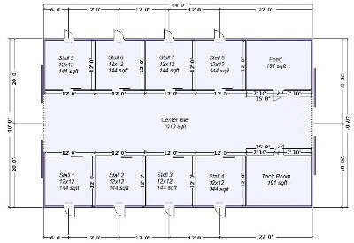 Horse barn kits horse barns by apb pole barns for Barn house layouts