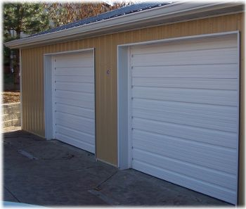 white garage doors