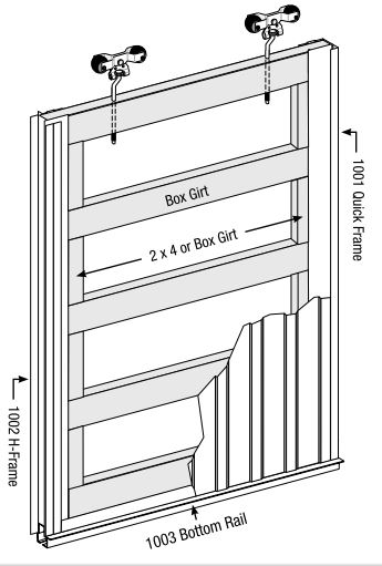 barn sliding door frame assembly