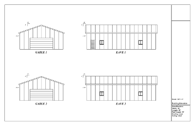 Pole barn plans north dakota pole building drawings for Post frame building plans