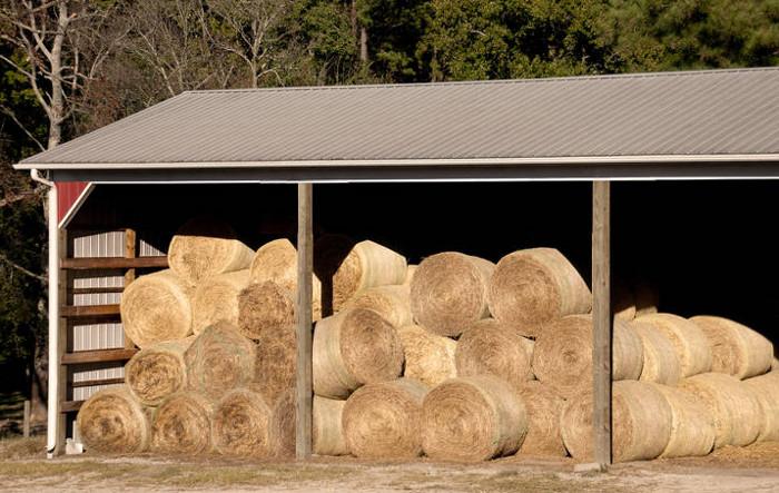 Image gallery hay barn for Hay pole barns