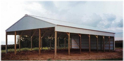 Amish constructed pole buildings types of pole buildings for Design your own pole barn online