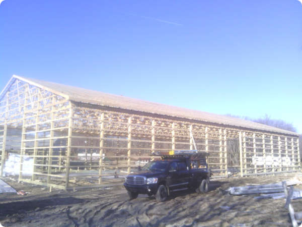 How To Build A Pole Barn Building A Pole Barn