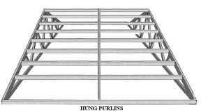 hung purlins