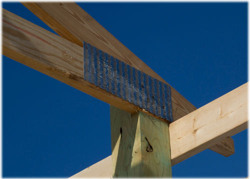 notch pole barn post for truss
