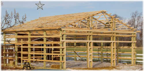 Pole barns vs stick built conventional framing or pole barn for How to build a pole shed step by step