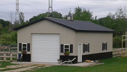Pole barn garage kits custom garage construction nationwide Metal home kits prices