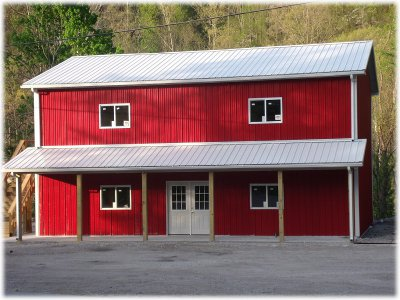 Affordable pole barn home kits house kits for 2 story metal buildings with living quarters