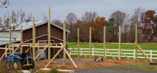 Pole Barn Post Setting