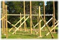 Setting Your Posts » APB Pole Barns