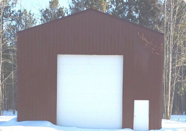 Rv garage pole barns rv storage buildings for Rv garage door