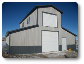 Michigan pole barn kits for Metal building with loft