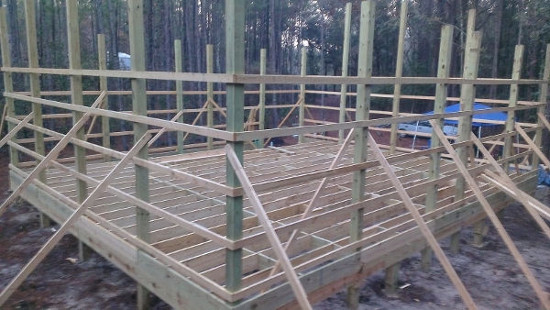 "30x36 Floor System w triple #1 2x10 beams, #1 2x10 joists 19"" oc"