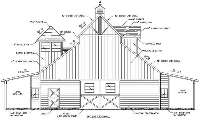 Evergreen East Elevation 187 Custom Monitor Barn