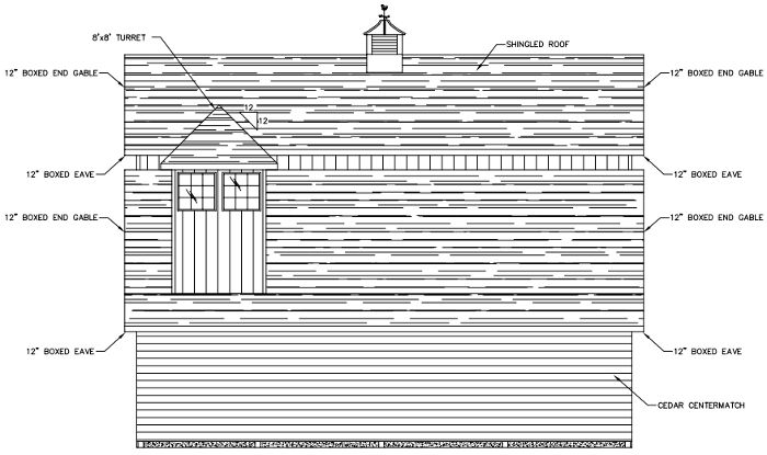 Evergreen Horse Barn South Elevation